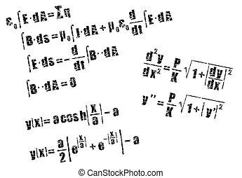 mathematics, calculus equation - calculus equation in grunge...