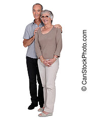 Middle-aged couple in studio