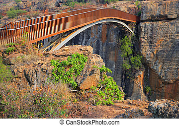 Bourkes Luck bridge - Bridge over the canyon at the Bourkes...