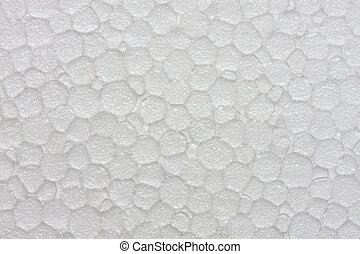 Polystyrene foam texture, close up shot