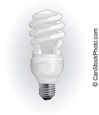 Energy saving light bulb. Vector illustration EPS 8.