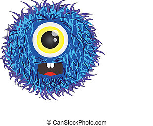 hairy alien - illustration of a hairy alien