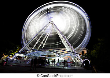 ferris wheel at night in Cape Town