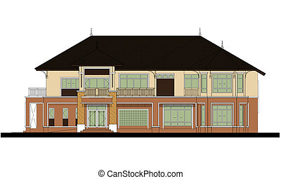 house elevation , color scheme