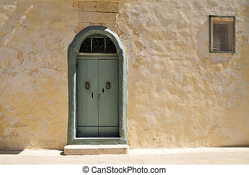 Maltese door  - Maltese house with nice mint green door.