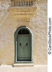 Maltese door - Maltese house with nice mint green door.