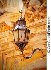 Old street light in Mdina, Malta