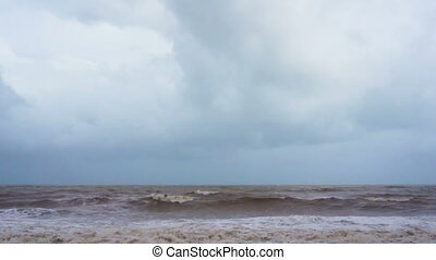 Sea waves - View of the sea wave during Monsoon season