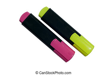 Highlighter pen in two colors
