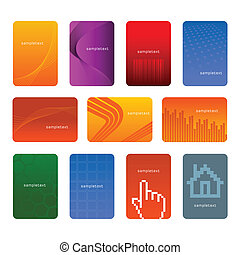 Vector illustration of business cards