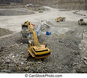 Pit Mine - Work in an Pit Mine industry
