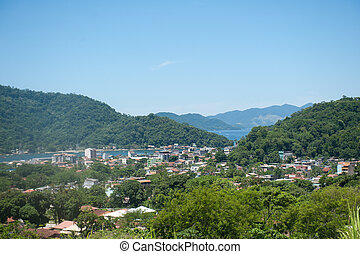 seen of the city of Itacuruca, in the bay one of the Great Island