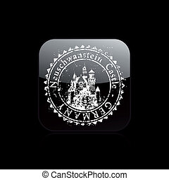 Vector illustration of famous capital's stamp icon