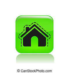 Vector illustration of modern icon depicting a house protection