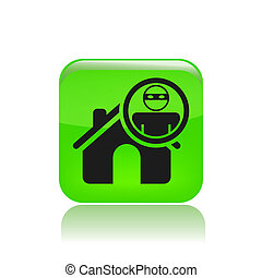 Vector illustration of thief apartments icon