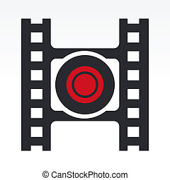 Vector illustration of record video button