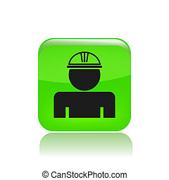 Vector illustration of worker with helmet