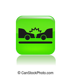 Vector illustration of car crash
