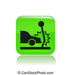 Vector illustration of car collision