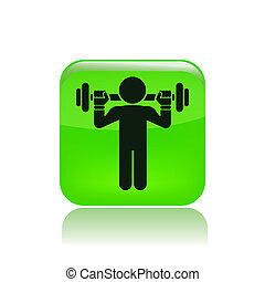 Vector illustration of gym icon