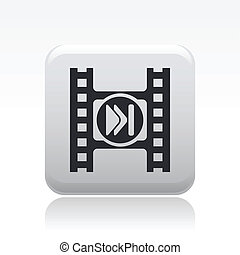 Vector illustration of video skip button