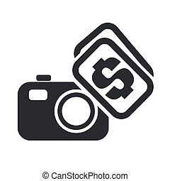 Vector illustration of sell photo concept icon