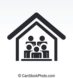 Vector illustration of guests house icon