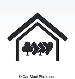 Vector illustration of poker house concept icon