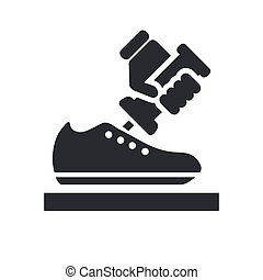 Vector illustration of shoemaker single isolated ison