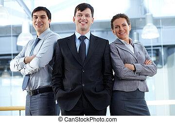 Business team - Portrait of a confident business team...