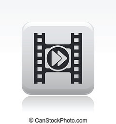 Vector illustration of single isolated player video icon