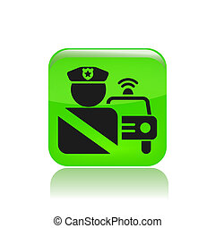 Vector illustration of roadblock single icon isolated