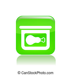 Vector illustration of canned food single isolated icon