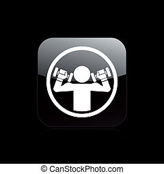 Vector illustration of gym single isolated icon