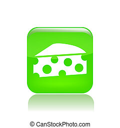 Vector illustration of food single isolated icon