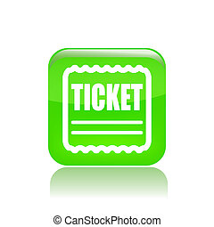 Vector illustration of single isolated ticket icon