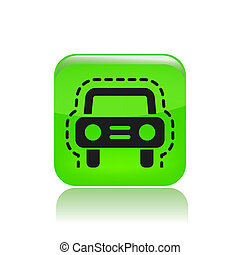 Vector illustration of single isolated car insurance icon