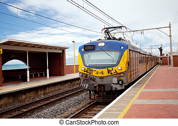 railway train and station in south africa