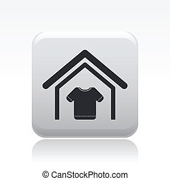 Vector illustration of single isolated clothing store icon
