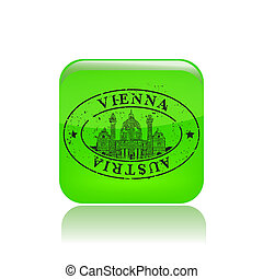 Vector illustration of single isolated Vienna stamp icon