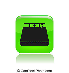 Vector illustration of single isolated miniskirt icon