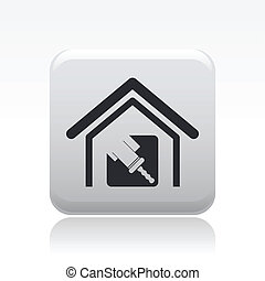 Vector illustration of single isolated house paint icon