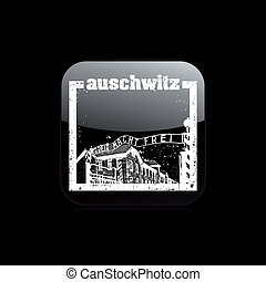 Vector illustration of single isolated auschwitz icon