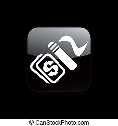 Vector illustration of single isolated smoke pay icon