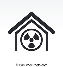 Vector illustration of single isolated radioactive icon
