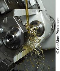 Oil in machine - Moving oil in a machine