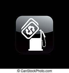 Vector illustration of single isolated fuel cost icon