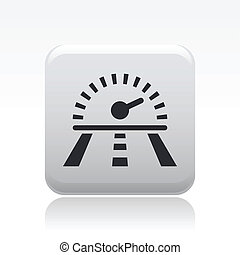 Vector illustration of single isolated race speed icon