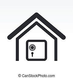 Vector illustration of single isolated bank icon