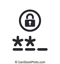 Vector illustration of single isolated password icon